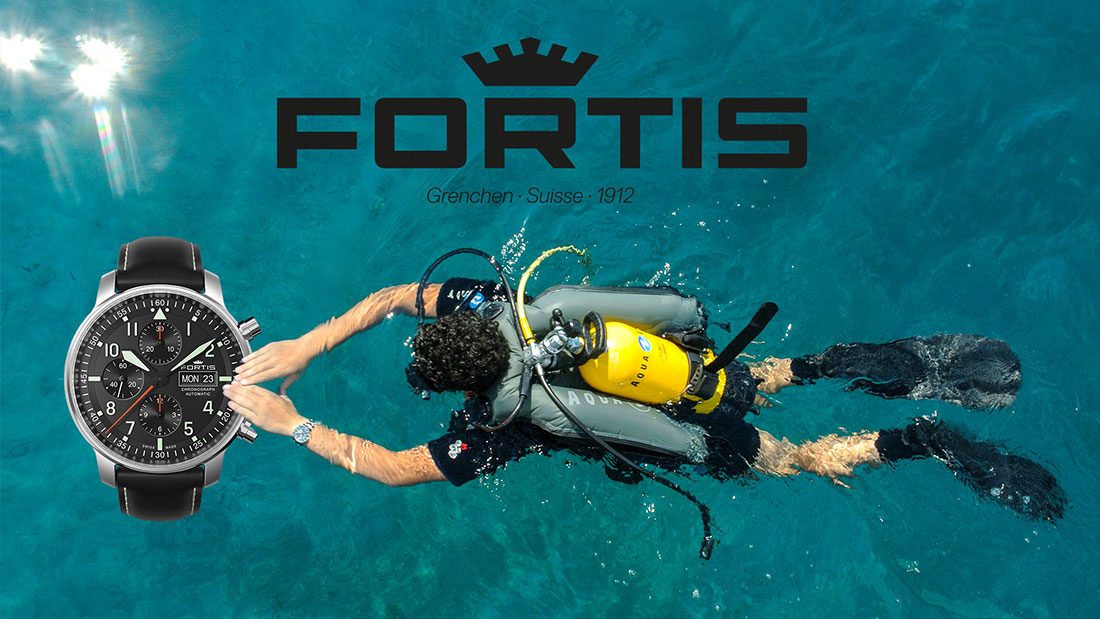 Scuba diving with Fortis watches