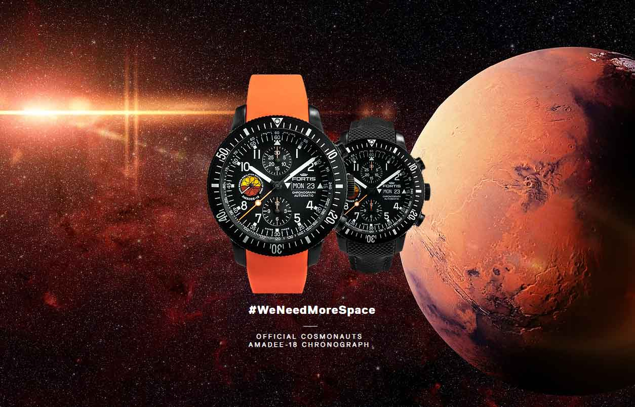 Official Cosmonauts AMADEE-18 Chronograph
